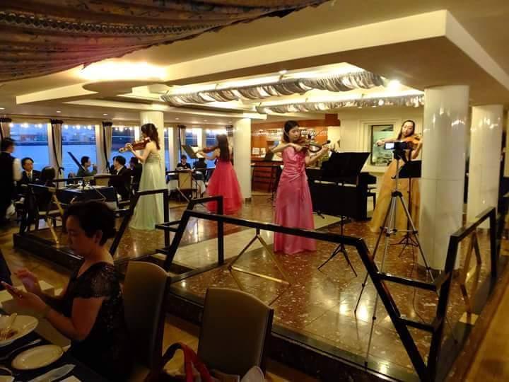 【演奏依頼・ディナーショー】美女たちの音楽会プレミアムクルージングディナーショー『海に咲く華』
