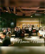 派遣演奏依頼【実績・レストラン生演奏】有名企業様のイベントにヴァイオリン&チェロで出演