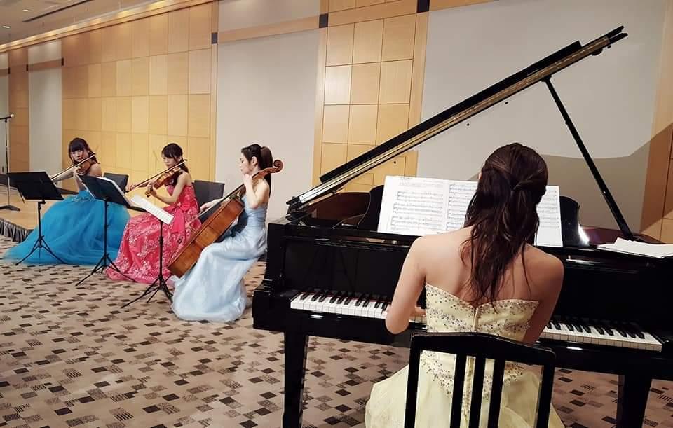 ピアノカルテットの生演奏