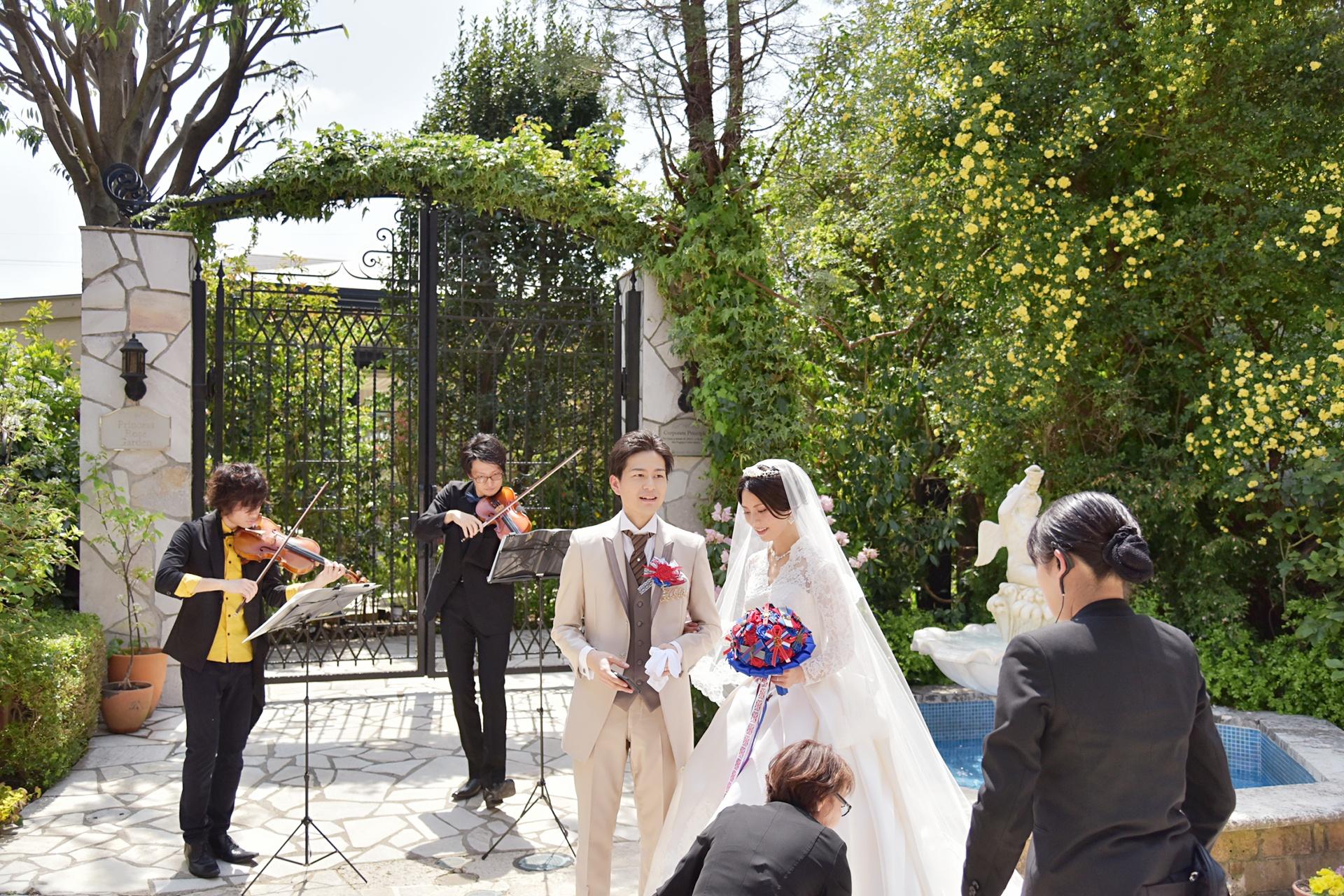 ガーデン、披露宴バイオリン生演奏