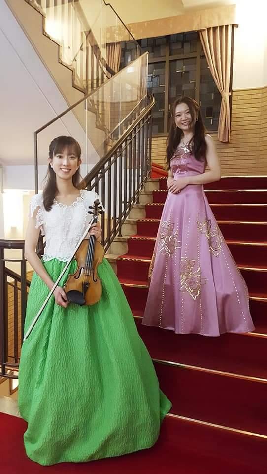 バイオリンピアノ学士会館での生演奏
