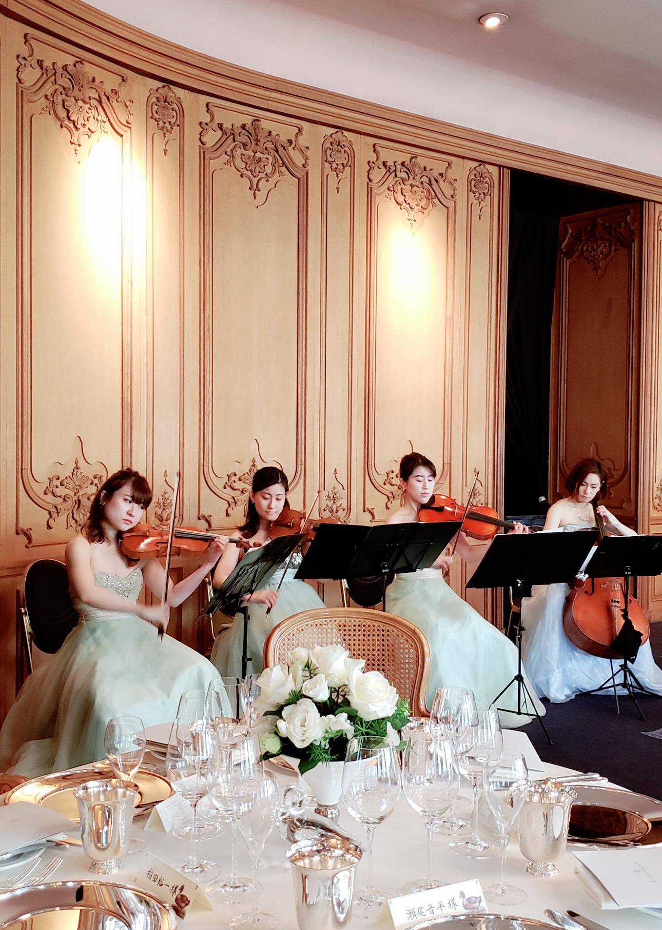 弦楽四重奏披露宴演奏