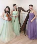 【生演奏依頼事例】病院コンサート 「ハープ、フルート、ヴァイオリンTrio」