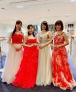 【演奏依頼事例】滋賀県企業パーティーに遠征「超絶技巧美女」フルート、ヴァイオリン、クラリネット、チェロ