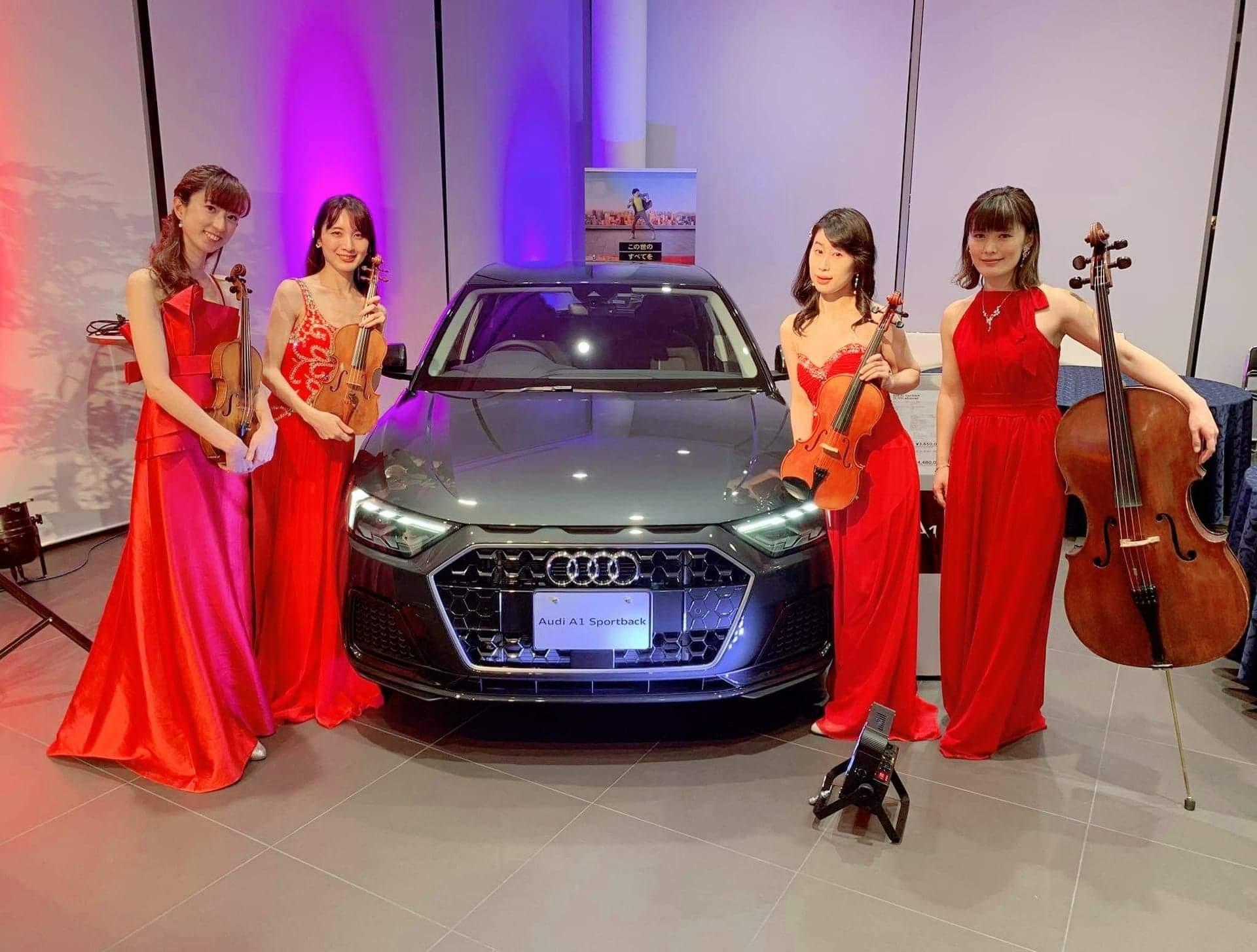Audi車と弦楽四重奏フェリスQUARTET
