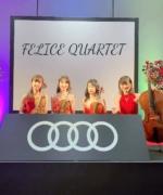 【生演奏依頼事例】Audiショールームプレオープンに弦楽四重奏「フェリスQUARTET」のご依頼